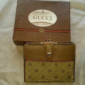 Gucci vintage rare wallet 1980's